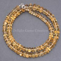 Natural Citrine Beaded Necklace, 6-10mm Golden Citrine Smooth Roundel Beads Necklace, Aaa++ Citrine Transparent Beads Necklace, Mom's Gift | Natural genuine Gemstone jewelry. Buy crystal jewelry, handmade handcrafted artisan jewelry for women.  Unique handmade gift ideas. #jewelry #beadedjewelry #beadedjewelry #gift #shopping #handmadejewelry #fashion #style #product #jewelry #affiliate #ad