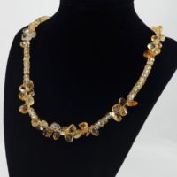 Citrine Necklace / Citrine / Yellow Gemstone / Money Stone / Necklace / Healing / Energy / Jewelry / Light Energy / Gemstone / Necklace | Natural genuine Gemstone jewelry. Buy crystal jewelry, handmade handcrafted artisan jewelry for women.  Unique handmade gift ideas. #jewelry #beadedjewelry #beadedjewelry #gift #shopping #handmadejewelry #fashion #style #product #jewelry #affiliate #ad