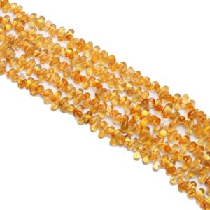 Natural Citrine Gemstone Teardrop Beads   5x8mm Smooth Drops 13inch Strand   Citrine Semi Precious Gemstone Loose Teardrop Beads For Jewelry   Natural genuine other-shape Gemstone beads for beading and jewelry making.  #jewelry #beads #beadedjewelry #diyjewelry #jewelrymaking #beadstore #beading #affiliate #ad
