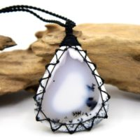 Dendritic Agate Necklace, Spiritual Gifts For Women, Rustic Jewelry, Black & White Jewelry, Birthday Gift For Wife, Dendritic Opal Pendant | Natural genuine Gemstone jewelry. Buy crystal jewelry, handmade handcrafted artisan jewelry for women.  Unique handmade gift ideas. #jewelry #beadedjewelry #beadedjewelry #gift #shopping #handmadejewelry #fashion #style #product #jewelry #affiliate #ad