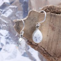 Dendritic Pear 8×12 Mm Earrings- Natural Dendritic Agate- 925 Earring- Silver Jewelry, gift For Her – Unique Gift – Dainty Earring, handmade | Natural genuine Gemstone jewelry. Buy crystal jewelry, handmade handcrafted artisan jewelry for women.  Unique handmade gift ideas. #jewelry #beadedjewelry #beadedjewelry #gift #shopping #handmadejewelry #fashion #style #product #jewelry #affiliate #ad