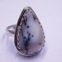 Dendritic Ring, Sterling Silver Ring, Dendritic Agate Ring, gemstone Ring, Wedding Ring-agate Ring, Christmas Sale, Directing, Boho Jewelry, | Natural genuine Gemstone jewelry. Buy handcrafted artisan wedding jewelry.  Unique handmade bridal jewelry gift ideas. #jewelry #beadedjewelry #gift #crystaljewelry #shopping #handmadejewelry #wedding #bridal #jewelry #affiliate #ad