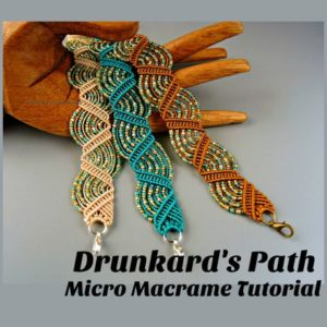 Shop Macrame Jewelry Tools! Drunkard's Path Micro Macrame Tutorial – Macrame Bracelet Tut – Pattern – Beaded Macrame – Jewelry Making – Diy | Shop jewelry making and beading supplies, tools & findings for DIY jewelry making and crafts. #jewelrymaking #diyjewelry #jewelrycrafts #jewelrysupplies #beading #affiliate #ad