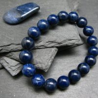 Dumortierite Genuine Bracelet ~ 7 Inches ~ 10mm Round Beads | Natural genuine Gemstone jewelry. Buy crystal jewelry, handmade handcrafted artisan jewelry for women.  Unique handmade gift ideas. #jewelry #beadedjewelry #beadedjewelry #gift #shopping #handmadejewelry #fashion #style #product #jewelry #affiliate #ad