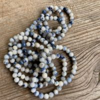 Dumortierite In Quartz Grounding Bracelet Ws9156 | Natural genuine Gemstone jewelry. Buy crystal jewelry, handmade handcrafted artisan jewelry for women.  Unique handmade gift ideas. #jewelry #beadedjewelry #beadedjewelry #gift #shopping #handmadejewelry #fashion #style #product #jewelry #affiliate #ad