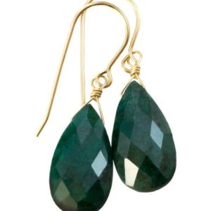 Shop Emerald Earrings! Natural Emerald Earrings Faceted Pear Shaped Teardrops 14k Solid Gold Or Filled Or Sterling Silver Deep Rich Green Drops   Natural genuine Emerald earrings. Buy crystal jewelry, handmade handcrafted artisan jewelry for women.  Unique handmade gift ideas. #jewelry #beadedearrings #beadedjewelry #gift #shopping #handmadejewelry #fashion #style #product #earrings #affiliate #ad