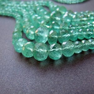 Shop Emerald Faceted Beads! Emerald Rondelles • 2.30-7mm • Aa++ Micro Faceted • Natural Genuine Gemstone • Zambian • Good Clarity • Light Green | Natural genuine faceted Emerald beads for beading and jewelry making.  #jewelry #beads #beadedjewelry #diyjewelry #jewelrymaking #beadstore #beading #affiliate #ad
