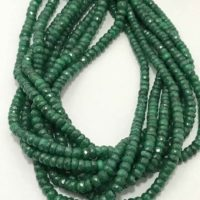 4 – 5mm Natural Emerald Faceted Rondelle Gemstone Beads Strand Or Necklace 4mm Emerald Rondelle Beads Emerald Beaded Necklace | Natural genuine Gemstone jewelry. Buy crystal jewelry, handmade handcrafted artisan jewelry for women.  Unique handmade gift ideas. #jewelry #beadedjewelry #beadedjewelry #gift #shopping #handmadejewelry #fashion #style #product #jewelry #affiliate #ad