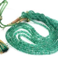 Top Quality Beryl Emerald Faceted Beads Necklace Green Emerald Gemstone Rondelle Shape Smooth Beaded Gemstone 3 To 5 Mm | Natural genuine Gemstone jewelry. Buy crystal jewelry, handmade handcrafted artisan jewelry for women.  Unique handmade gift ideas. #jewelry #beadedjewelry #beadedjewelry #gift #shopping #handmadejewelry #fashion #style #product #jewelry #affiliate #ad