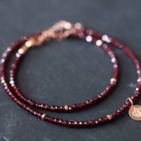 Natural Garnet Beaded Necklace | Women's Gemstone Choker Necklace | Faceted Red Garnet | January Birthstone | Gold Garnet Necklace | Natural genuine Gemstone jewelry. Buy crystal jewelry, handmade handcrafted artisan jewelry for women.  Unique handmade gift ideas. #jewelry #beadedjewelry #beadedjewelry #gift #shopping #handmadejewelry #fashion #style #product #jewelry #affiliate #ad