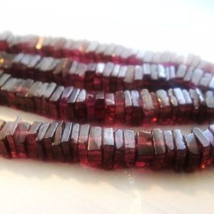 Garnet Heishi Beads, Natural Gemstones, Brides, Wholesale Gems, 4-5mm,   Natural genuine other-shape Gemstone beads for beading and jewelry making.  #jewelry #beads #beadedjewelry #diyjewelry #jewelrymaking #beadstore #beading #affiliate #ad