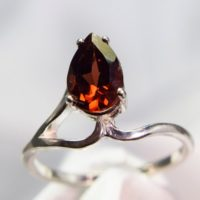 Garnet Ring, Genuine Gemstone 9x6mm Pear Shaped 1.45ct, Set In 925 Sterling Silver Solitaire Ring | Natural genuine Gemstone jewelry. Buy crystal jewelry, handmade handcrafted artisan jewelry for women.  Unique handmade gift ideas. #jewelry #beadedjewelry #beadedjewelry #gift #shopping #handmadejewelry #fashion #style #product #jewelry #affiliate #ad