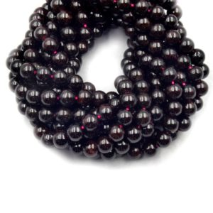 Shop Garnet Round Beads! Red Garnet Beads   Smooth  Garnet Round Shaped Beads   6mm 8mm 10mm   Loose Beads   Gemstone Beads by the Strand   Mala Beads   Natural genuine round Garnet beads for beading and jewelry making.  #jewelry #beads #beadedjewelry #diyjewelry #jewelrymaking #beadstore #beading #affiliate #ad