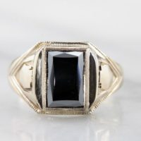 Vintage Men's Hematite Statement Ring, Royal Shield Or Crest Style Decoration 6fj3rq-r | Natural genuine Gemstone jewelry. Buy crystal jewelry, handmade handcrafted artisan jewelry for women.  Unique handmade gift ideas. #jewelry #beadedjewelry #beadedjewelry #gift #shopping #handmadejewelry #fashion #style #product #jewelry #affiliate #ad