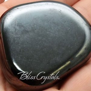 Xl Hematite Magnet Palm Stone Magnetized Flat Tumbled Polished Healing Crystals And Stones #hm01 | Natural genuine stones & crystals in various shapes & sizes. Buy raw cut, tumbled, or polished gemstones for making jewelry or crystal healing energy vibration raising reiki stones. #crystals #gemstones #crystalhealing #crystalsandgemstones #energyhealing #affiliate #ad