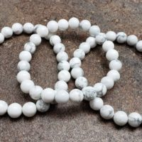 Howlite Bracelet Strand, 7 Inch   Natural genuine Gemstone jewelry. Buy crystal jewelry, handmade handcrafted artisan jewelry for women.  Unique handmade gift ideas. #jewelry #beadedjewelry #beadedjewelry #gift #shopping #handmadejewelry #fashion #style #product #jewelry #affiliate #ad