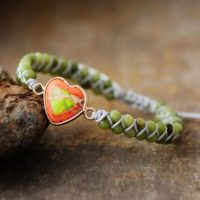 Natural Green Jade Heart Healing Grounding Bracelet-balancing Calming Spiritual Protection Meditation Anxiety Stress Relief Bracelet Gift | Natural genuine Gemstone jewelry. Buy crystal jewelry, handmade handcrafted artisan jewelry for women.  Unique handmade gift ideas. #jewelry #beadedjewelry #beadedjewelry #gift #shopping #handmadejewelry #fashion #style #product #jewelry #affiliate #ad