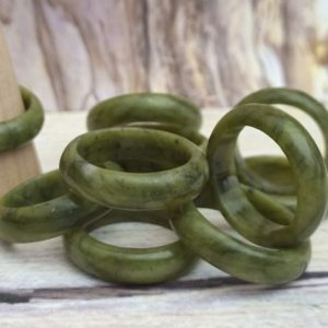 Shop Jade Rings! Jade Ring   Solid Jade Green Stone Ring   Green Chinese Jade Ring   Natural genuine Jade rings, simple unique handcrafted gemstone rings. #rings #jewelry #shopping #gift #handmade #fashion #style #affiliate #ad