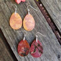 Picasso Jasper Earrings. Sterling Silver Picasso Jasper Earrings | Natural genuine Gemstone jewelry. Buy crystal jewelry, handmade handcrafted artisan jewelry for women.  Unique handmade gift ideas. #jewelry #beadedjewelry #beadedjewelry #gift #shopping #handmadejewelry #fashion #style #product #jewelry #affiliate #ad