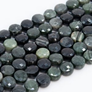 Shop Jasper Faceted Beads! Genuine Natural Gray Green Jasper Loose Beads Faceted Flat Round Button Shape 6mm   Natural genuine faceted Jasper beads for beading and jewelry making.  #jewelry #beads #beadedjewelry #diyjewelry #jewelrymaking #beadstore #beading #affiliate #ad