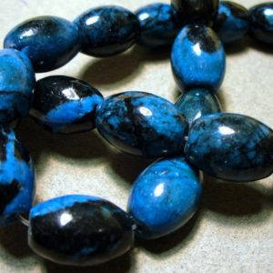 Shop Jasper Bead Shapes! Jasper Beads Gemstone Blue Barrel Banded 17x11mm   Natural genuine other-shape Jasper beads for beading and jewelry making.  #jewelry #beads #beadedjewelry #diyjewelry #jewelrymaking #beadstore #beading #affiliate #ad