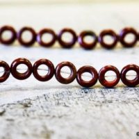 """M / Poppy Jasper 8mm Ring Donut Beads 15.5"""" Long, Semi-precious Stone Natural Jasper Cute Size Donut For Jewelry Designs 