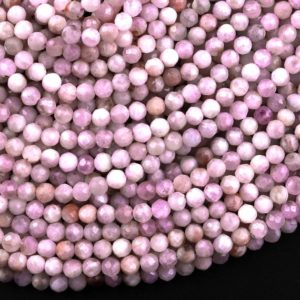 """Shop Kunzite Beads! Natural Kunzite Faceted 3mm 4mm 5mm Round Beads 15.5"""" Strand   Natural genuine faceted Kunzite beads for beading and jewelry making.  #jewelry #beads #beadedjewelry #diyjewelry #jewelrymaking #beadstore #beading #affiliate #ad"""