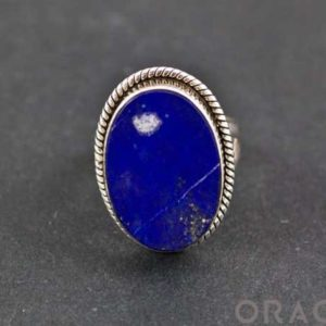 Shop Lapis Lazuli Rings! Sterling Silver Lapis Ring Size 6 | Natural genuine Lapis Lazuli rings, simple unique handcrafted gemstone rings. #rings #jewelry #shopping #gift #handmade #fashion #style #affiliate #ad