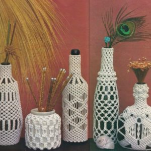 Shop Macrame Jewelry Tools! Macrame Bottle Covers Pattern Vintage – Digital Download In Pdf Format – Wine Bottles | Shop jewelry making and beading supplies, tools & findings for DIY jewelry making and crafts. #jewelrymaking #diyjewelry #jewelrycrafts #jewelrysupplies #beading #affiliate #ad