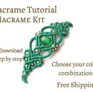Shop Macrame Jewelry Tools! Macrame Bracelet Kit, macrame Tutorial Fantasy Pdf | Shop jewelry making and beading supplies, tools & findings for DIY jewelry making and crafts. #jewelrymaking #diyjewelry #jewelrycrafts #jewelrysupplies #beading #affiliate #ad