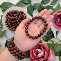 One Mahogany Obsidian Bracelet – Root Chakra – Obsidian Stones – No. 244 | Natural genuine Gemstone jewelry. Buy crystal jewelry, handmade handcrafted artisan jewelry for women.  Unique handmade gift ideas. #jewelry #beadedjewelry #beadedjewelry #gift #shopping #handmadejewelry #fashion #style #product #jewelry #affiliate #ad