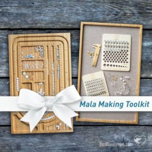 Mala Making Toolset / Gift Set With Handmade Wooden Malaboard, Beading Tablet With Felt Inlay, Brass Caliper, Beadcounter And Beading Pliers | Shop jewelry making and beading supplies, tools & findings for DIY jewelry making and crafts. #jewelrymaking #diyjewelry #jewelrycrafts #jewelrysupplies #beading #affiliate #ad