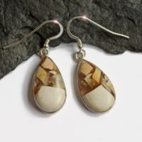 Abstract Desert – Beautiful Brecciated Mookaite Sterling Silver Earrings | Natural genuine Gemstone jewelry. Buy crystal jewelry, handmade handcrafted artisan jewelry for women.  Unique handmade gift ideas. #jewelry #beadedjewelry #beadedjewelry #gift #shopping #handmadejewelry #fashion #style #product #jewelry #affiliate #ad