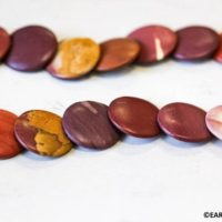 Xl / Matte Mookaite 20mm / 30mm Lentil Beads 15.5 Inches Long, Mixed Brown, Yellow And White Jasper Gemstone, For Necklace, Jewelry Supply | Natural genuine Gemstone jewelry. Buy crystal jewelry, handmade handcrafted artisan jewelry for women.  Unique handmade gift ideas. #jewelry #beadedjewelry #beadedjewelry #gift #shopping #handmadejewelry #fashion #style #product #jewelry #affiliate #ad