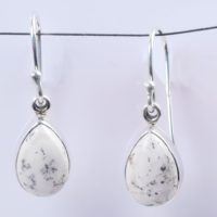 Natural Dendritic Earrings, Dendrite Opal Earrings. 925 Silver Earrings, Dendritic Agate Earring, Pear Shape Stone Earring Jewelry | Natural genuine Gemstone jewelry. Buy crystal jewelry, handmade handcrafted artisan jewelry for women.  Unique handmade gift ideas. #jewelry #beadedjewelry #beadedjewelry #gift #shopping #handmadejewelry #fashion #style #product #jewelry #affiliate #ad