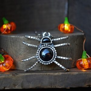 Shop Obsidian Necklaces! Spider Necklace, Spider, Silver Spider, Black Spider Necklace, Obsidian Spider, sterling Spider Necklace, halloween Jewelry, halloween Necklace   Natural genuine Obsidian necklaces. Buy crystal jewelry, handmade handcrafted artisan jewelry for women.  Unique handmade gift ideas. #jewelry #beadednecklaces #beadedjewelry #gift #shopping #handmadejewelry #fashion #style #product #necklaces #affiliate #ad