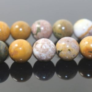 """Shop Ocean Jasper Round Beads! Natural Ocean Jasper Round Beads,Ocean Jasper Beads,4mm 6mm 8mm 10mm 12mm Natural Smooth beads,one strand 15"""",Gemstone Beads,Ocean beads 