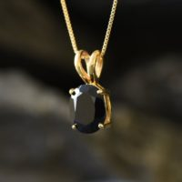 Gold Onyx Pendant, Natural Onyx, Black Pendant, Gold Plated Pendant, 3 Carat Necklace, Oval Pendant, Unique Pendant, Gold Vermeil Necklace | Natural genuine Gemstone jewelry. Buy crystal jewelry, handmade handcrafted artisan jewelry for women.  Unique handmade gift ideas. #jewelry #beadedjewelry #beadedjewelry #gift #shopping #handmadejewelry #fashion #style #product #jewelry #affiliate #ad