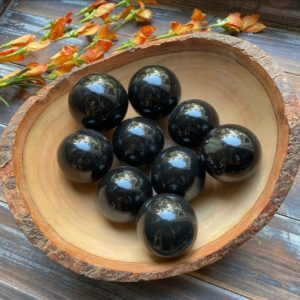 Shop Onyx Shapes! Black Onyx Crystal Spheres | Natural genuine stones & crystals in various shapes & sizes. Buy raw cut, tumbled, or polished gemstones for making jewelry or crystal healing energy vibration raising reiki stones. #crystals #gemstones #crystalhealing #crystalsandgemstones #energyhealing #affiliate #ad