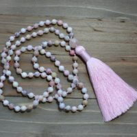 Pink Opal Jewelry, Pink Opal Necklace, Pink Opal Bead Necklace, Yoga Jewelry Necklace, Meditation Jewelry, Pink Mala, Yoga Gift For Mom | Natural genuine Gemstone jewelry. Buy crystal jewelry, handmade handcrafted artisan jewelry for women.  Unique handmade gift ideas. #jewelry #beadedjewelry #beadedjewelry #gift #shopping #handmadejewelry #fashion #style #product #jewelry #affiliate #ad