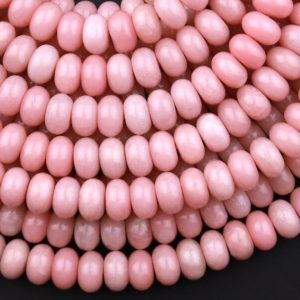 """Shop Opal Rondelle Beads! Natural Pink Opal 6mm 8mm Smooth Rondelle Beads 15.5"""" Strand   Natural genuine rondelle Opal beads for beading and jewelry making.  #jewelry #beads #beadedjewelry #diyjewelry #jewelrymaking #beadstore #beading #affiliate #ad"""