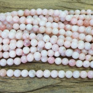 Shop Opal Round Beads! Natural Peruvian Pink Opal Beads – Smooth Round Opal Gemstones – Light Pink Beads For Jewelry Beading – Opal Beads Supplies – 15inch   Natural genuine round Opal beads for beading and jewelry making.  #jewelry #beads #beadedjewelry #diyjewelry #jewelrymaking #beadstore #beading #affiliate #ad
