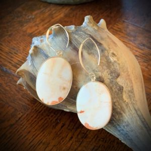 Shop Scolecite Earrings! orange scolecite oval drops   Natural genuine Scolecite earrings. Buy crystal jewelry, handmade handcrafted artisan jewelry for women.  Unique handmade gift ideas. #jewelry #beadedearrings #beadedjewelry #gift #shopping #handmadejewelry #fashion #style #product #earrings #affiliate #ad