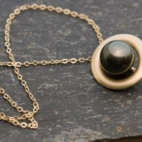 Black Pearl Necklace In 18k Gold – Tahitian Black Pearl Pendant   Natural genuine Gemstone jewelry. Buy crystal jewelry, handmade handcrafted artisan jewelry for women.  Unique handmade gift ideas. #jewelry #beadedjewelry #beadedjewelry #gift #shopping #handmadejewelry #fashion #style #product #jewelry #affiliate #ad