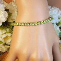 Natural Clear Peridot Gem Bracelet / Adjustable / 7.80 Carat Twenty-six 4 Mm Vvs Natural Peridot / Sterling Silver / August Birthstone | Natural genuine Gemstone jewelry. Buy crystal jewelry, handmade handcrafted artisan jewelry for women.  Unique handmade gift ideas. #jewelry #beadedjewelry #beadedjewelry #gift #shopping #handmadejewelry #fashion #style #product #jewelry #affiliate #ad