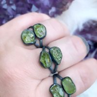 Raw Peridot Ring, August Birthstone Ring   Natural genuine Gemstone jewelry. Buy crystal jewelry, handmade handcrafted artisan jewelry for women.  Unique handmade gift ideas. #jewelry #beadedjewelry #beadedjewelry #gift #shopping #handmadejewelry #fashion #style #product #jewelry #affiliate #ad