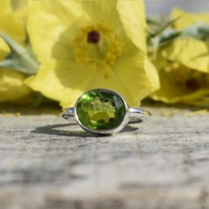 Shop Peridot Rings! Womens Peridot Ring, 925 Silver Ring, Womens Jewelry, Birthday Gift, Affordable Ring, Gemstone Ring, Boho Ring, Dainty Ring, Green Stone | Natural genuine Peridot rings, simple unique handcrafted gemstone rings. #rings #jewelry #shopping #gift #handmade #fashion #style #affiliate #ad