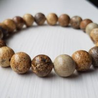 Picture Jasper Bracelet | Natural genuine Gemstone jewelry. Buy crystal jewelry, handmade handcrafted artisan jewelry for women.  Unique handmade gift ideas. #jewelry #beadedjewelry #beadedjewelry #gift #shopping #handmadejewelry #fashion #style #product #jewelry #affiliate #ad