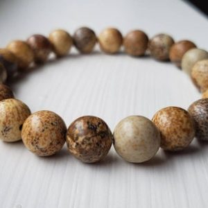 Shop Picture Jasper Bracelets! Picture Jasper Bracelet | Natural genuine Picture Jasper bracelets. Buy crystal jewelry, handmade handcrafted artisan jewelry for women.  Unique handmade gift ideas. #jewelry #beadedbracelets #beadedjewelry #gift #shopping #handmadejewelry #fashion #style #product #bracelets #affiliate #ad