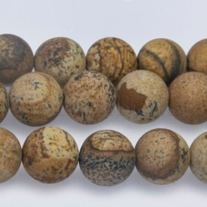 matte picture jasper beads -jasper gemstone beads – round beads wholesale – jasper loose beads for jewellery making – size 4-16mm – 15 inch | Natural genuine beads Gemstone beads for beading and jewelry making.  #jewelry #beads #beadedjewelry #diyjewelry #jewelrymaking #beadstore #beading #affiliate #ad